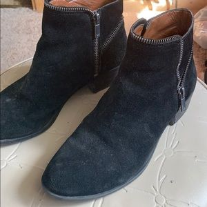 Lucky brand  leather black booties